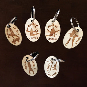 Custom Set of 6 Engraved Male Gymnastics Pins (Personalized)