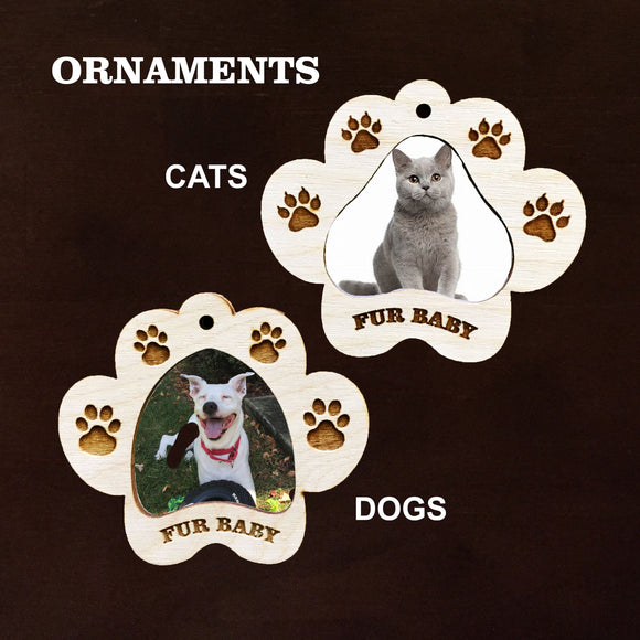 Pet Photo Fridge magnet & Ornament combo, Dog Ornament, Cat Oornament, Photo Frame ornaments, PAW photo frame magnet or ornament
