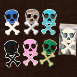 SKULL earbuds holder, earbuds organizer, Stocking stuffer, earbuds wrap