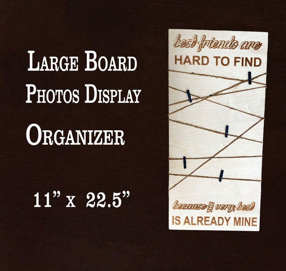 Large Photo Organizer Board, Engraved Photo Board, BFF photo organizer,  Organizer board