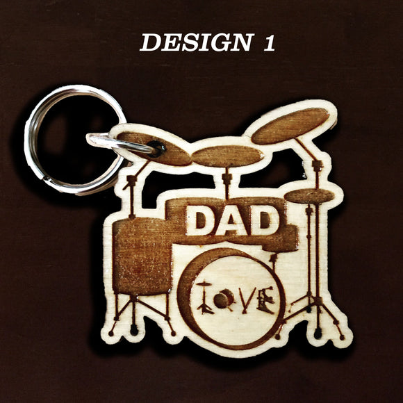 Drum personalized engraved key chain