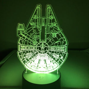 Millennium Falcon 3D LED Lamp