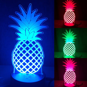 Pineapple LED lamp, night lamp, color changing night lamp for kids room, for teenagers room