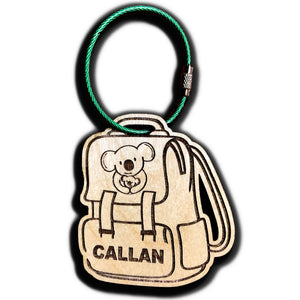 Custom Backpack Tag for Kids; Engraved Personalized Bag Tag for School Bag or Lunch Boxes or Luggage Tag
