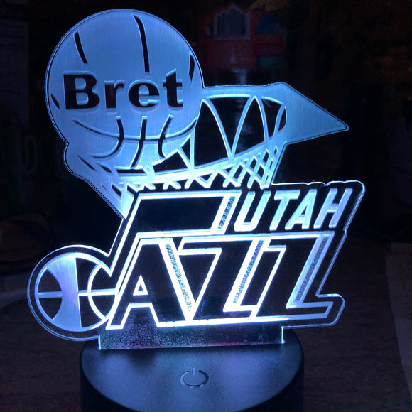 Custom LED Night Lamp of Favorite Sports - Sports team and Logo Personalized