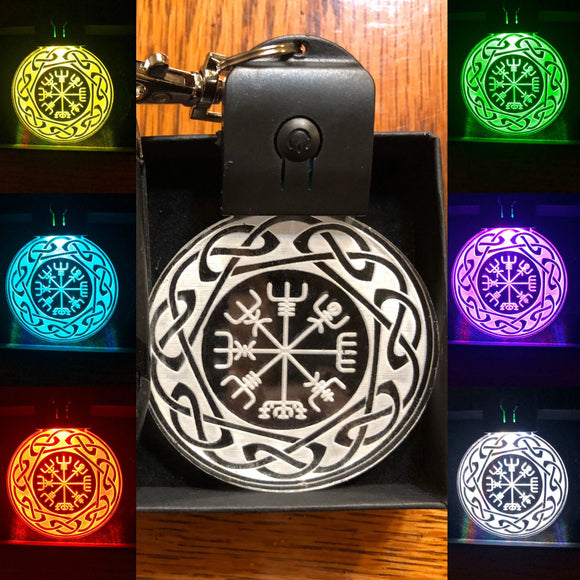 Viking keychain, Wayfinder, Vegvisir LED keychain - in multicolors
