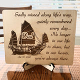 Rest in Peace plaque, remembrance plaque with quote, bereavement, RIP plaque, memorial plaque