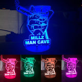 Man Cave's Decor 3D LED Lamp, Whiskey and cigar LED lamp