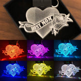 Best Mom Mother's Day LED keychain - Display in Multi colors