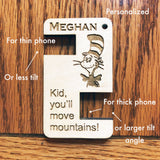 Portable Wooden Phone stand, Personalized Phone Stand, Custom cell phone stand