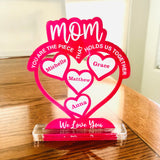 Mother's Day gift from children, Personalized Mother's Day plaque laser engraved; table display Mother's Day