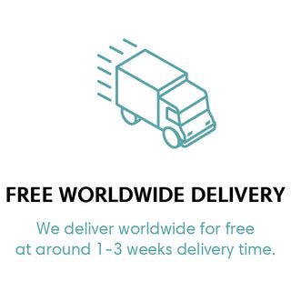 Free worldwide delivery badge