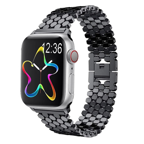 Particle Steel Bracelet Carter Apple Watch Band on white background