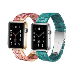 Resin Color Strap Robinson Apple Watch Band on white background