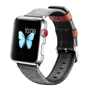 Fabric Leather Band for Apple Watch