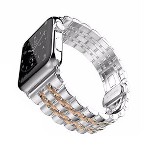 Stainless Steel Band on White Background