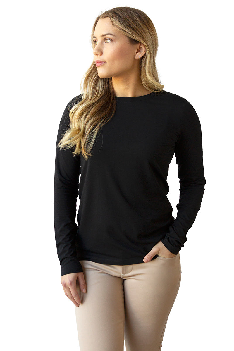 Women's Bamboo Cotton Long-Sleeve Tee