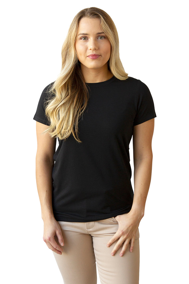 Women's Bamboo Cotton Short-Sleeve Tee