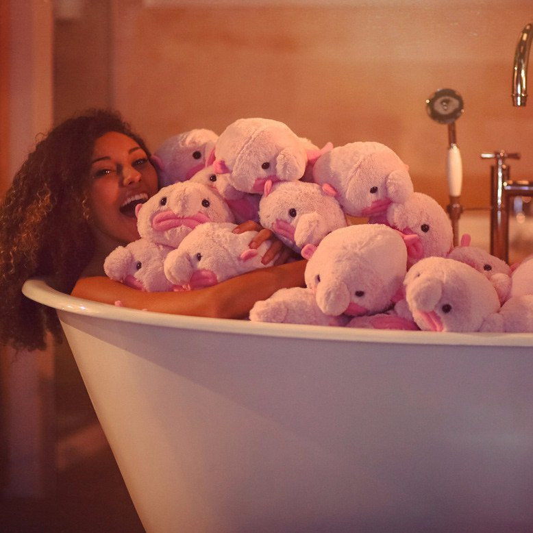 A bath full of blobfish