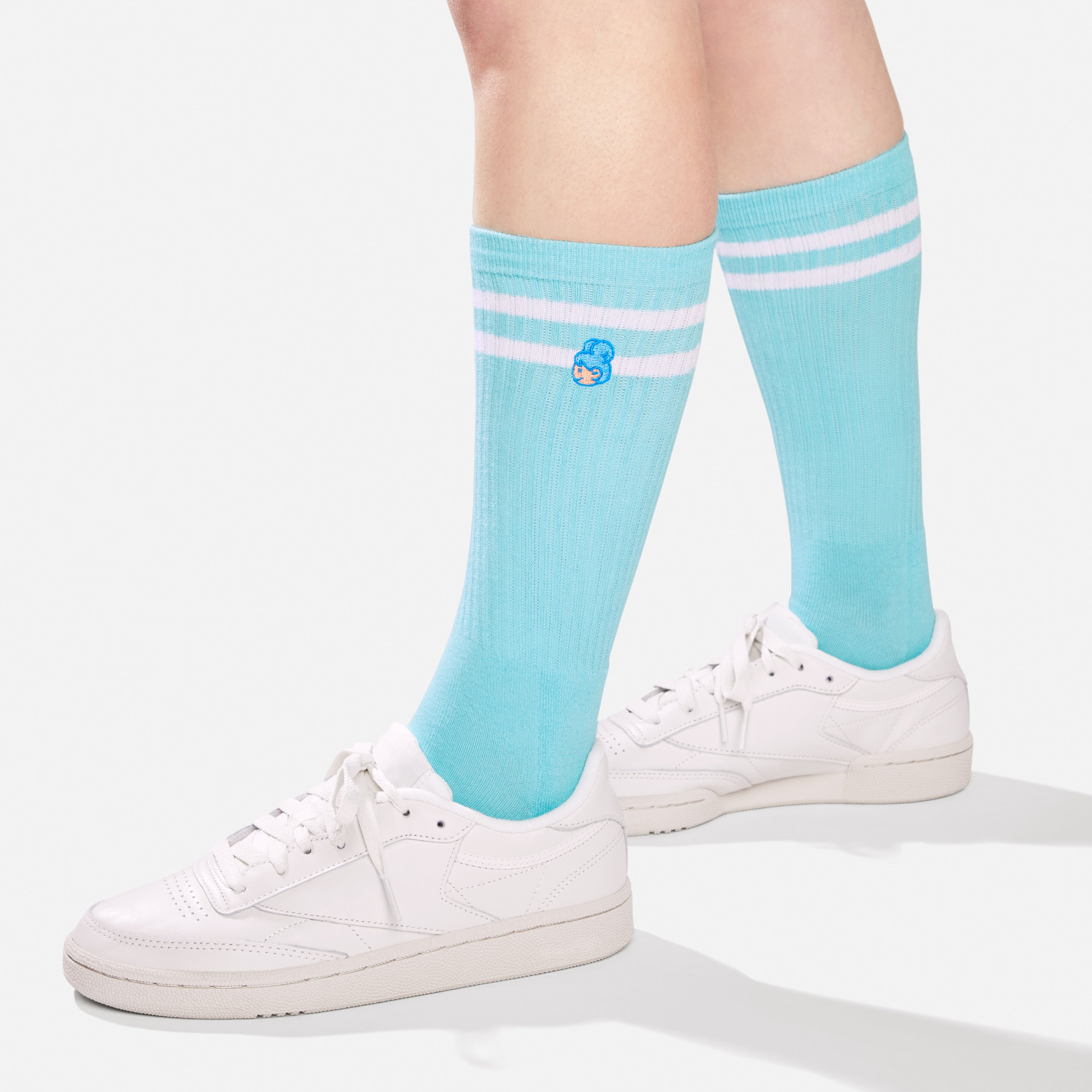 Lily socks - on model