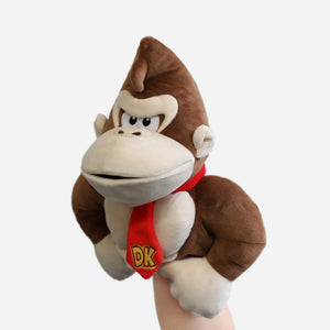 Donkey Kong puppet on model's arm