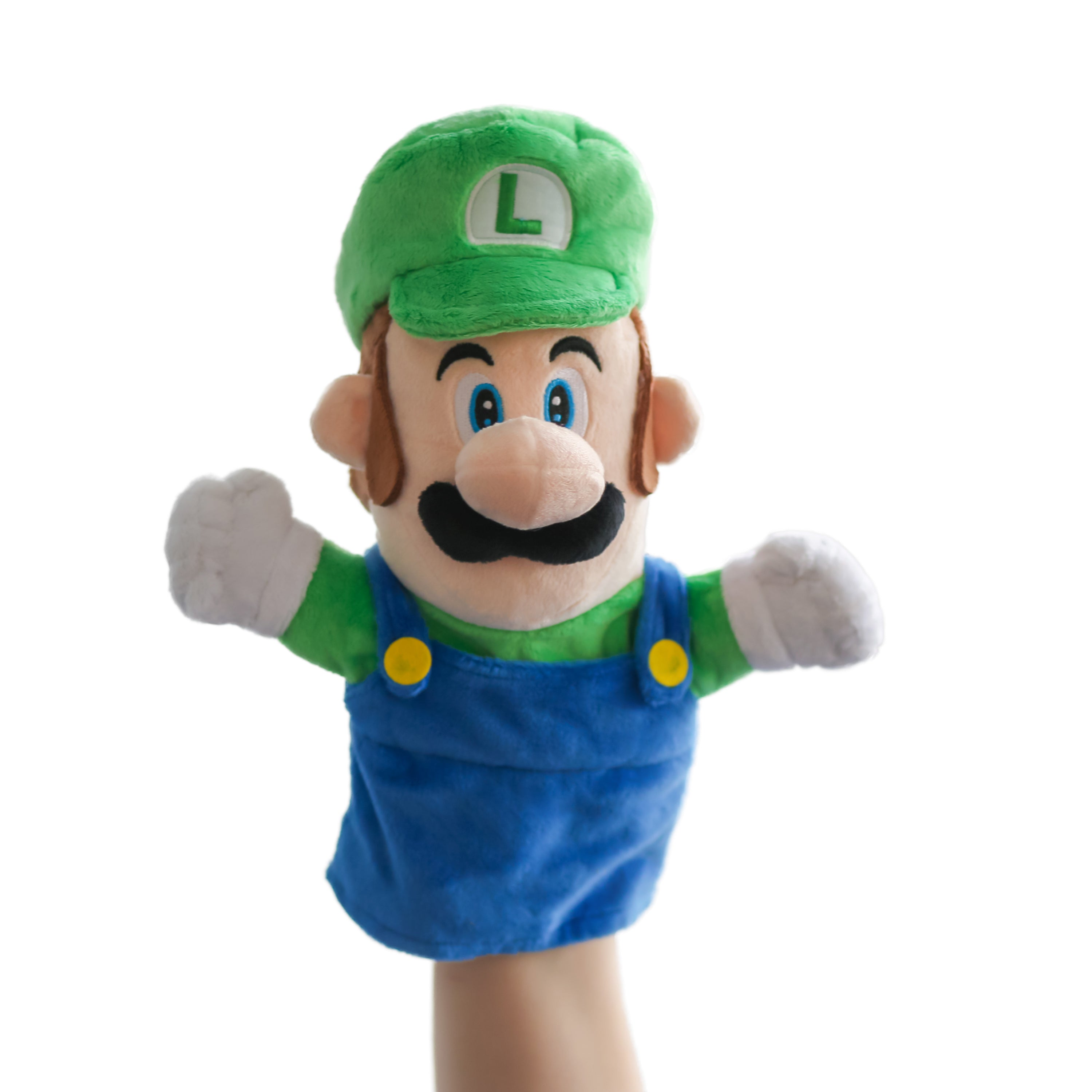 Luigi hand puppet by Uncute