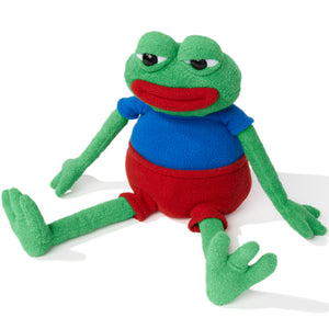 Pepe the frog stuffed toy - licensed by Matt Furie