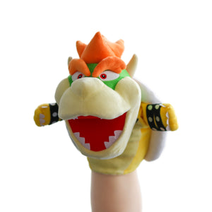Bowser hand puppet with moveable mouth