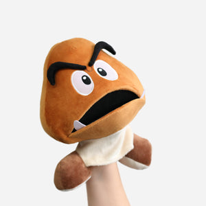 Goomba puppet with opened mouth