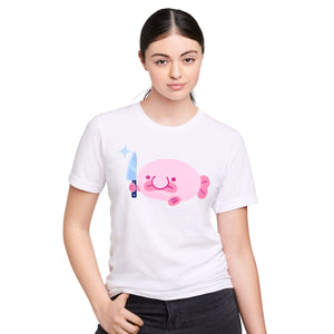 Blobby Protec T shirt on model