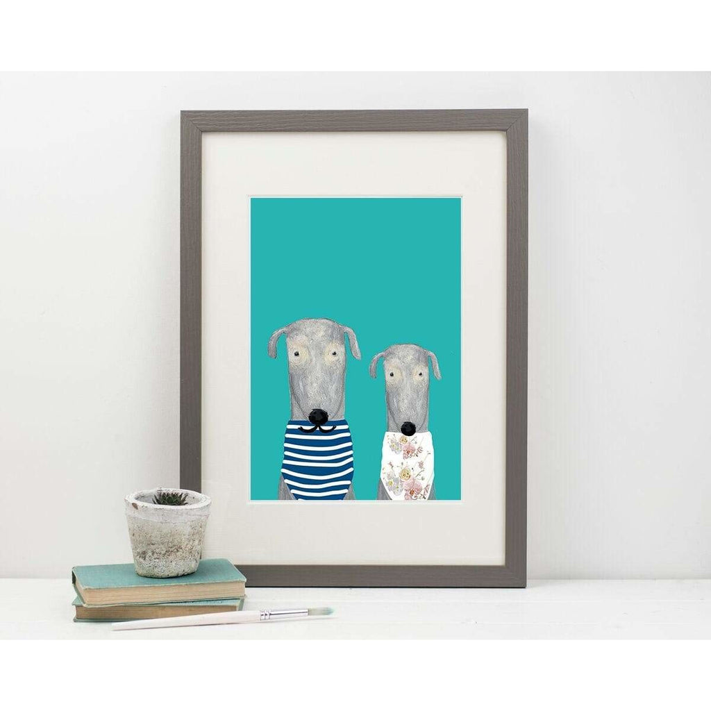 Print Circus A3 frame Alice & Marcel print