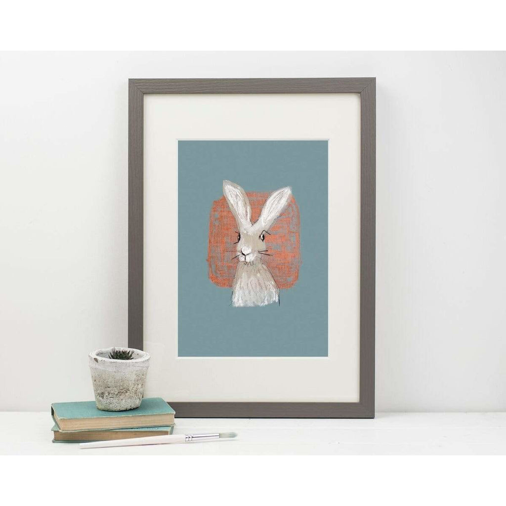 Print Circus A3 frame Hare with Coral print
