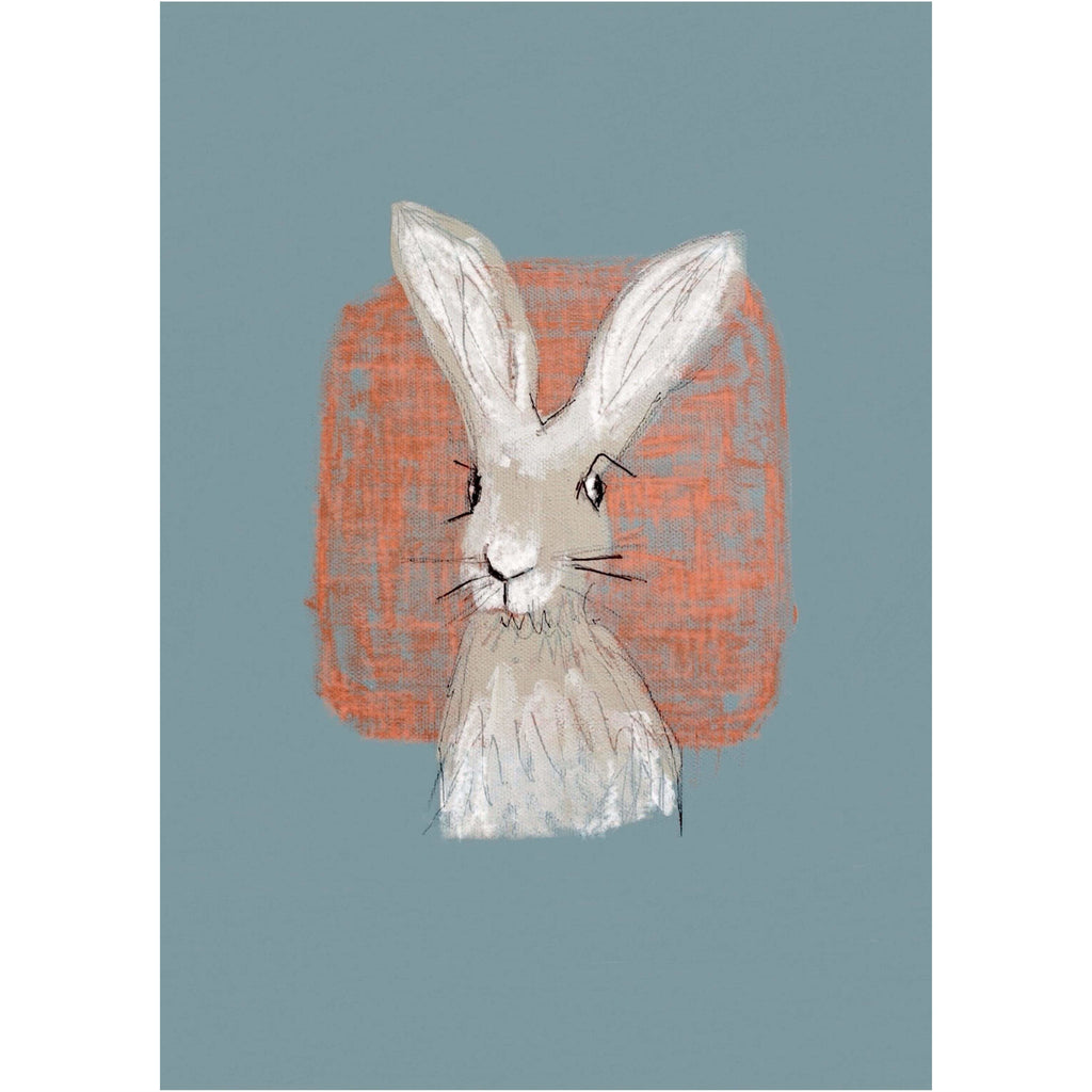 Print Circus A3 unframed Hare with Coral print