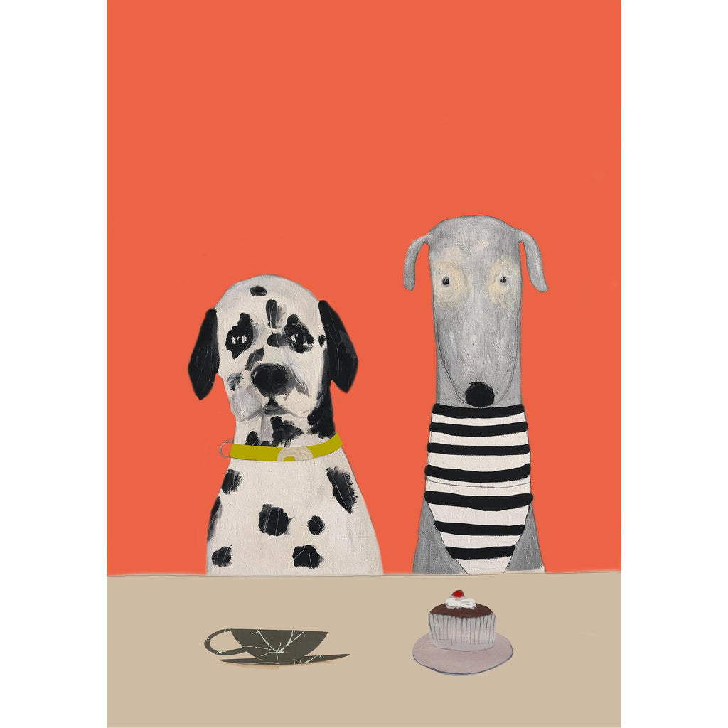 Print Circus A3 unframed Hugo & Trumpet have Tea & Cake print