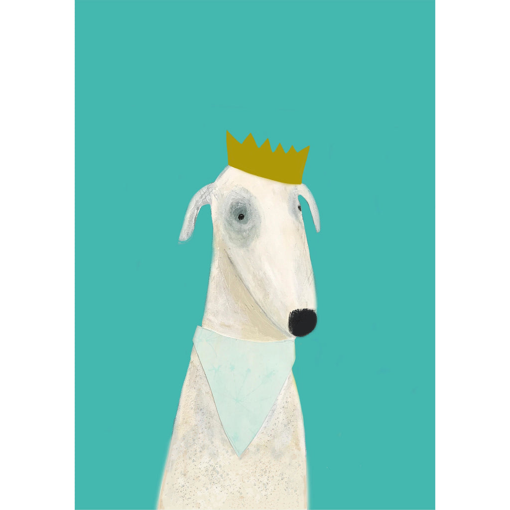 Print Circus A3 unframed Violet Dog print
