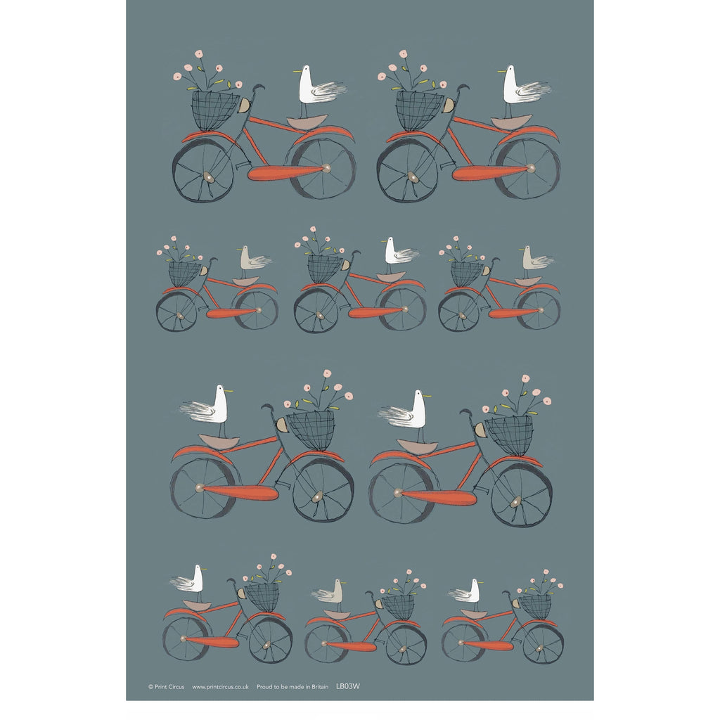 Print Circus Bird on Bike Gift Wrap