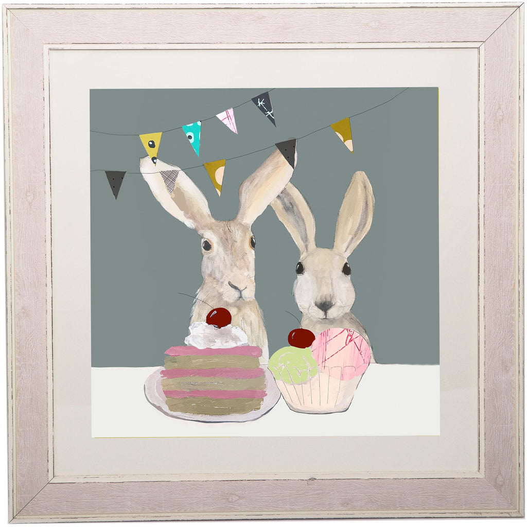 Print Circus Extra Large Framed Print Extra large distressed frame Hares Tea Party Extra Large Framed Print