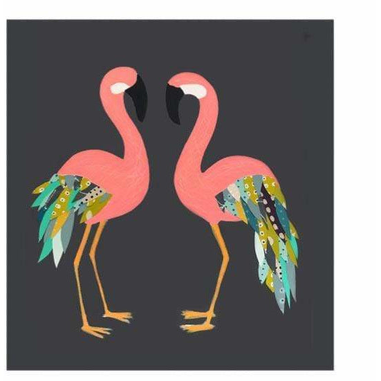 Print Circus Greetings Card Flamingos Greetings Card
