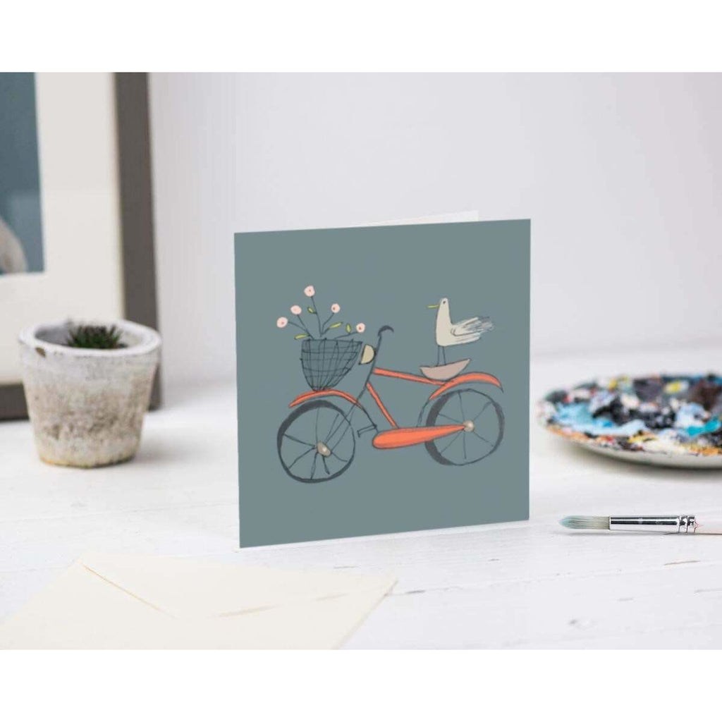 Print Circus Greetings Card LB03 Bird on Bike Greetings Card