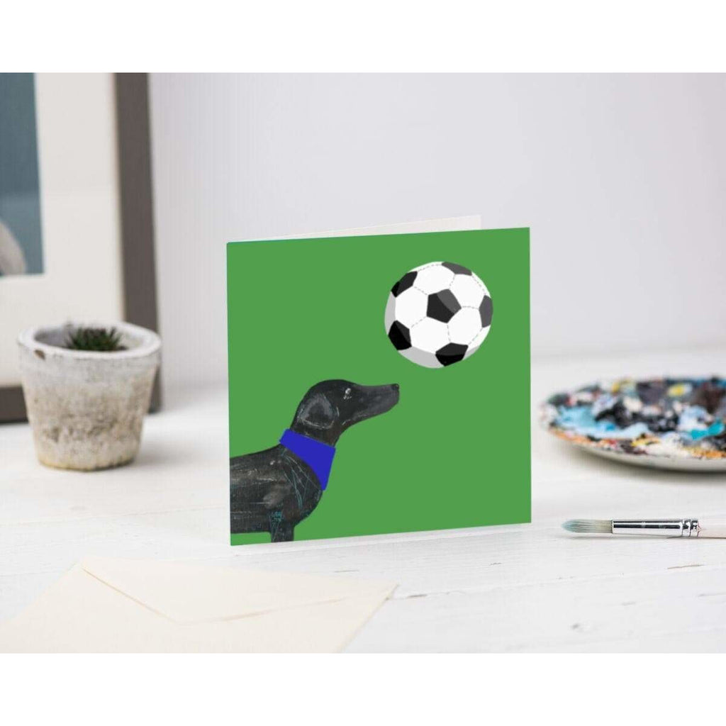 Print Circus Greetings Card SP02 I Love Football Greetings Card