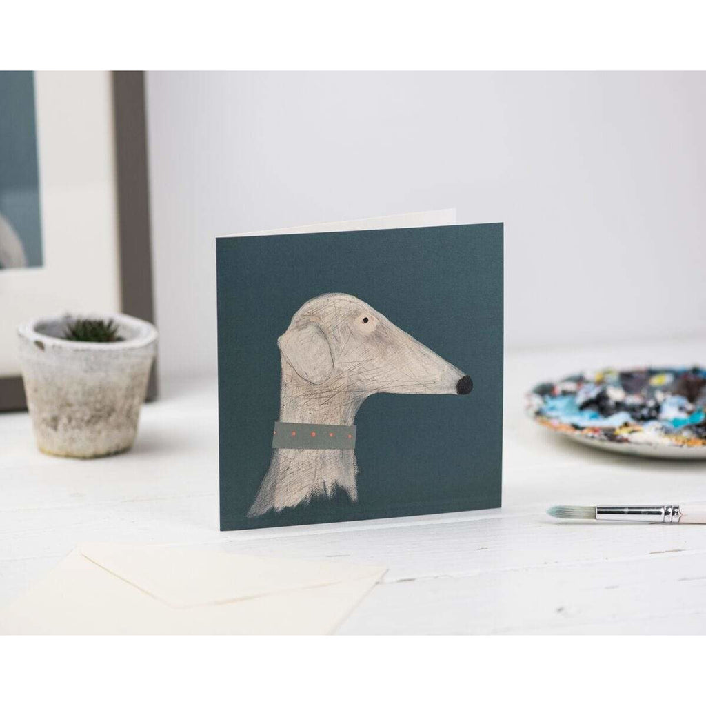 Print Circus Greetings Card Thinking Dog Greetings Card