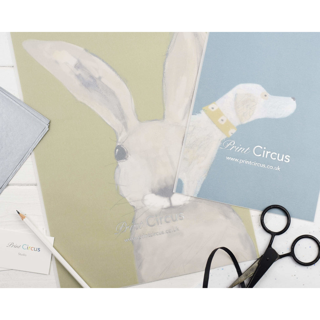 Print Circus Hare with Coral print