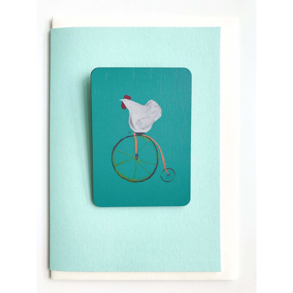 Print Circus Magnet Card MC03-r Circus Hen magnet card on mint