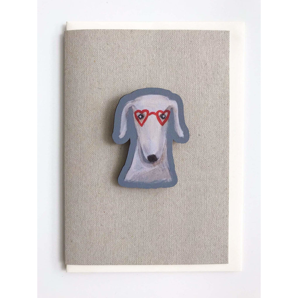 Print Circus Magnet Card MC07-r Heart Shaped Glasses magnet card on recycled