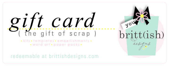 Britt(ish) Designs Gift Card