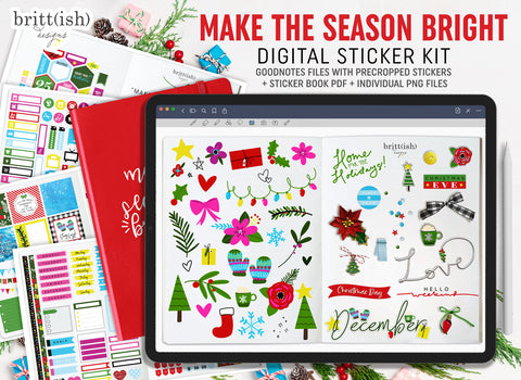 Make The Season Bright - Digital Planning Sticker Kit