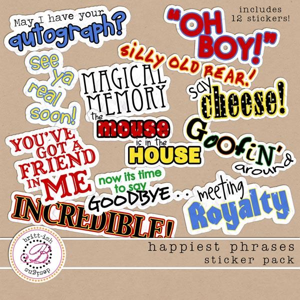 Happiest Phrases Sticker Pack