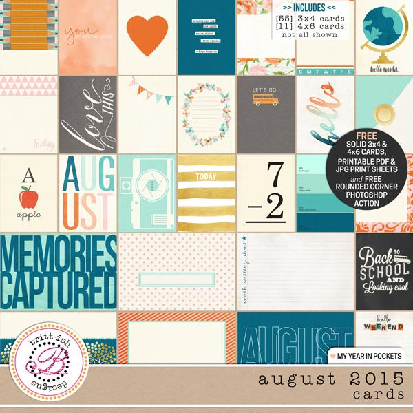 My Year In Pockets (August 2015): Cards