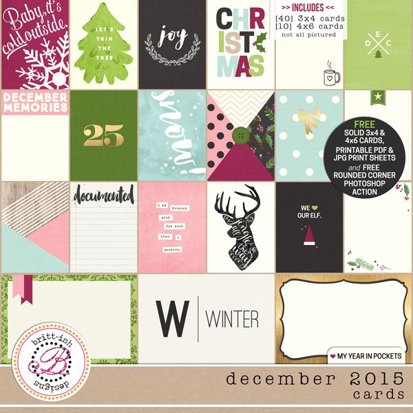 My Year In Pockets (December 2015): Cards
