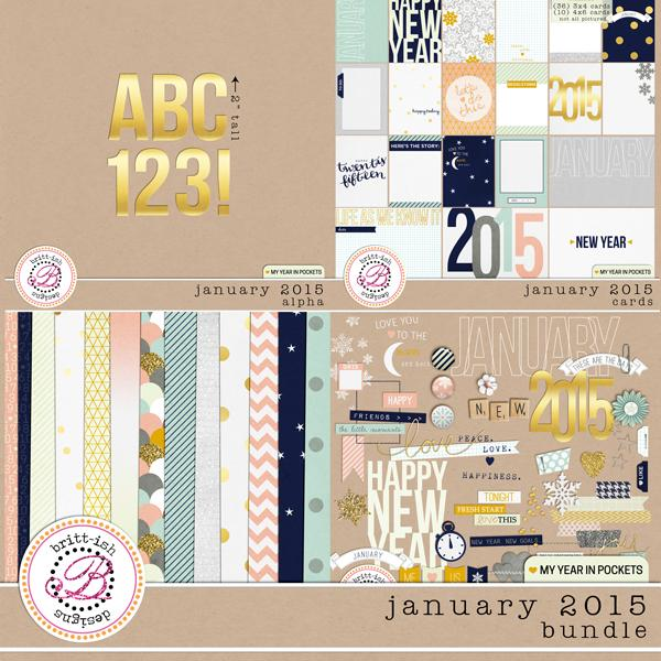 My Year In Pockets (January 2015): Bundle